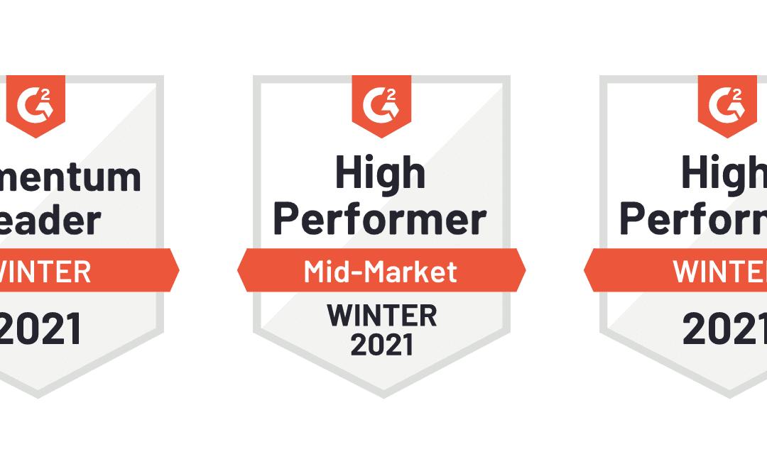 G2 Badges Winter 2021